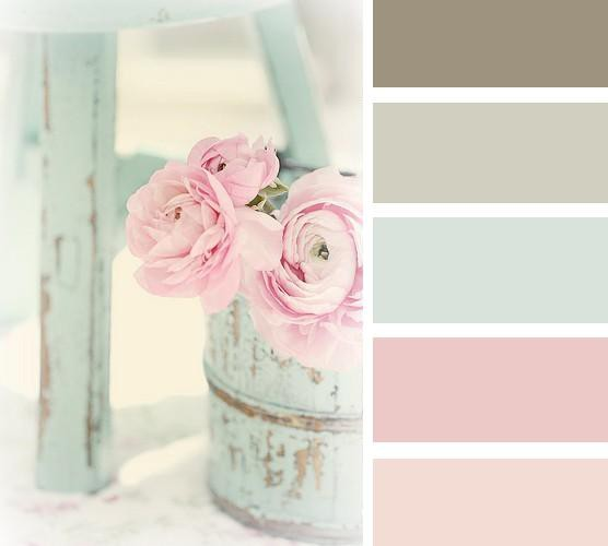 shabby chic colour palette