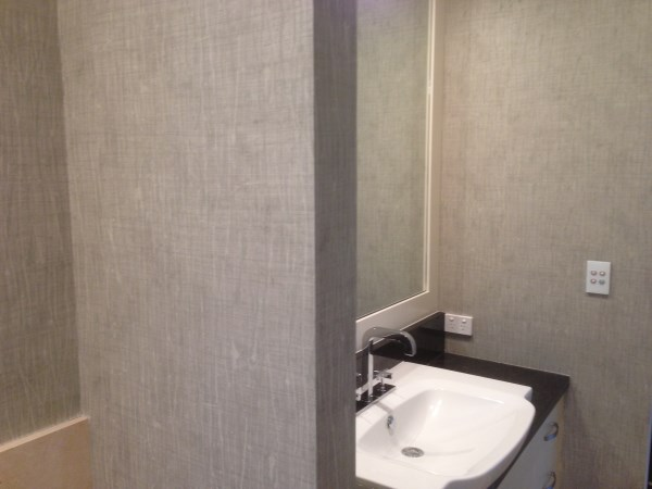 Wallpaper Installers Brisbane - Commercial Vinyl In Bathroom