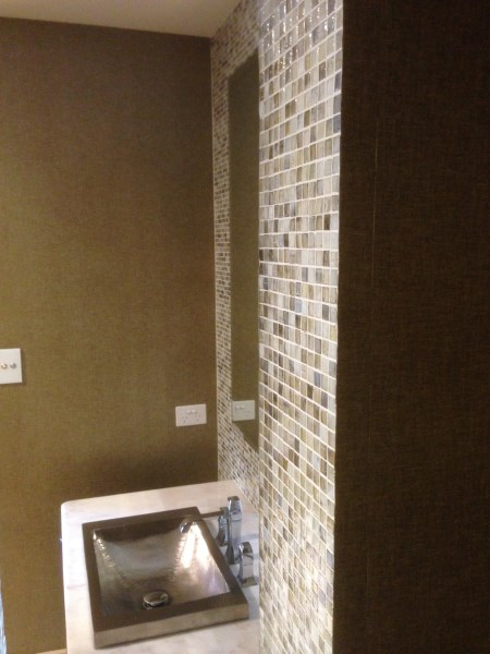 wallpaper installers Byron Bay - bathroom wallpapering