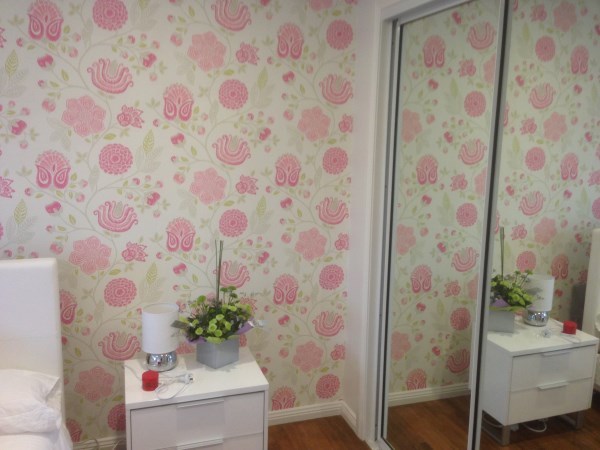 Bedroom wallpaper installation Sunshine Coast