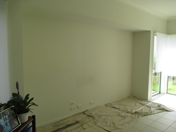 Sunshine Coast wallpaper installation before