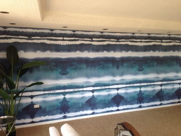 Tie Dye Surf Mural