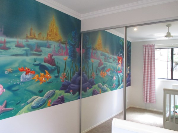 wallpaper installers Sunshine Coast - Little Mermaid Mural