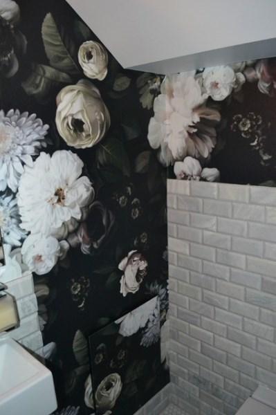 Powder Room Bathroom Wallpaper