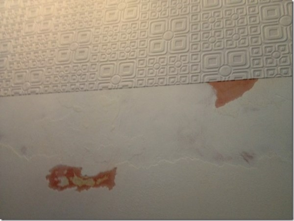installing anaglypta wallpaper on a ceiling