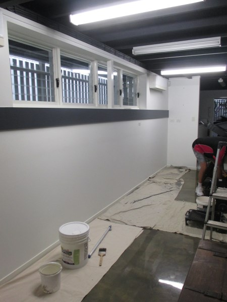 wall before installing brick wallpaper