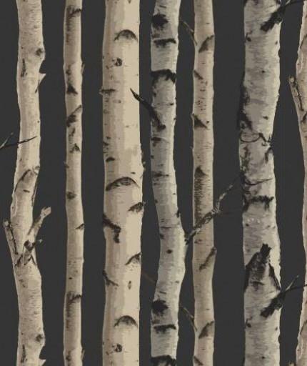 Albany Wallpaper - Nordik Wood Grey Beige On Charcoal