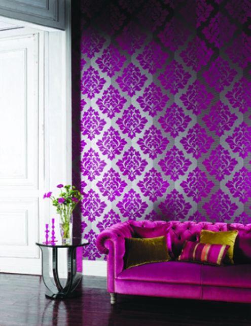 Arthouse Wallpaper - Twilight Collection Nightfall Pink