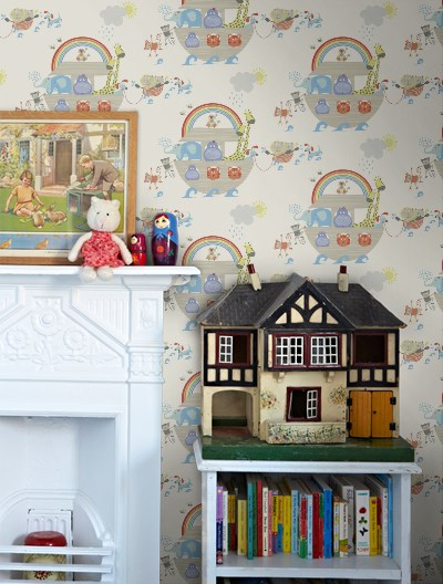Childrens bedroom wallpaper