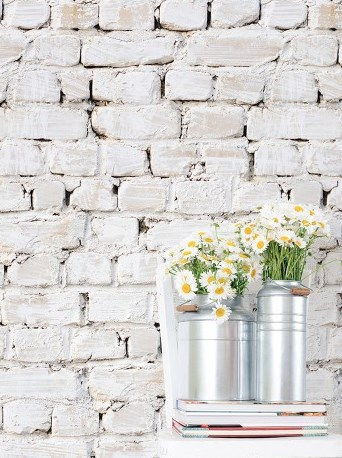 Kemra Wallpaper - Whitewash Bricks