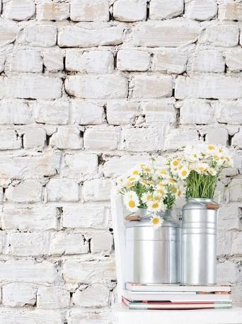 Kemra Wallpaper - Whitewash Bricks