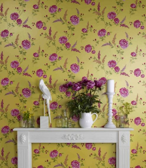 Sophie Conran Wallpaper - reflections Collection - posie