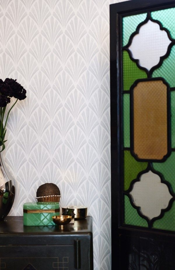 Wall Decor Tapet : Art deco wallpaper inspired by s glamour