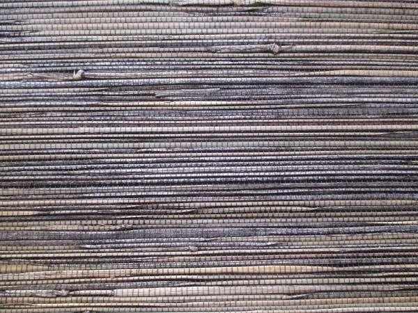 Black Grasscloth wallpaper closeup look