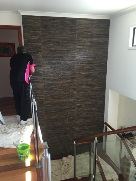 Broadbeach Waters Staircase wallpaper installation