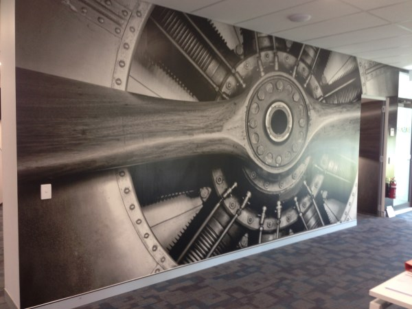 Wall mural installations for Aviation wall mural
