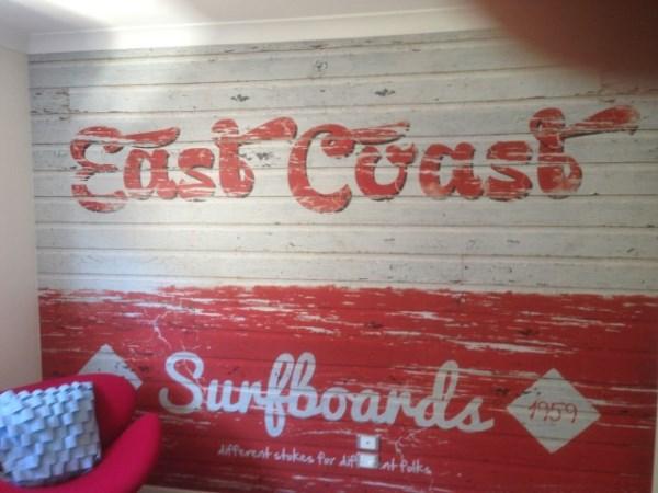 East Coast Surfboard Mural - Gold Coast