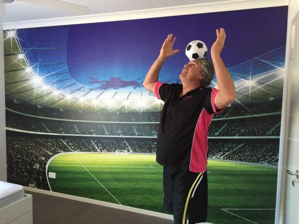 Soccer Stadium Mural Installation - Brisbane