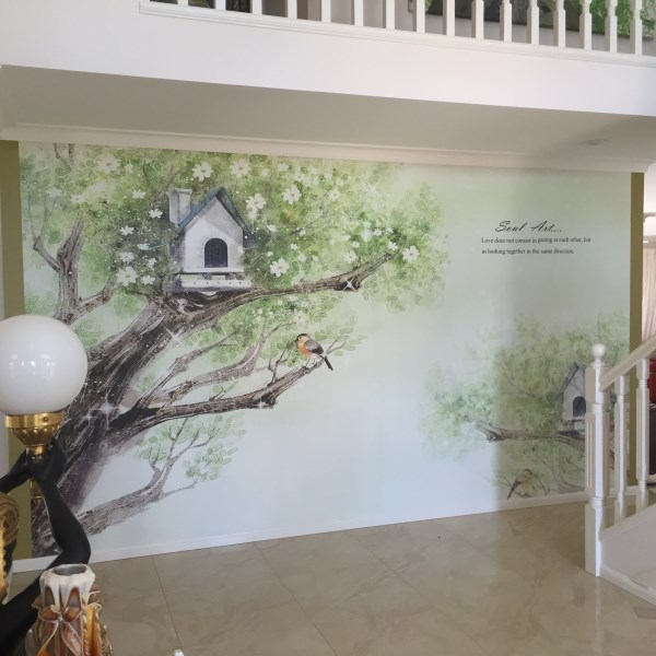 Wall Mural Installation - Clear Island Waters