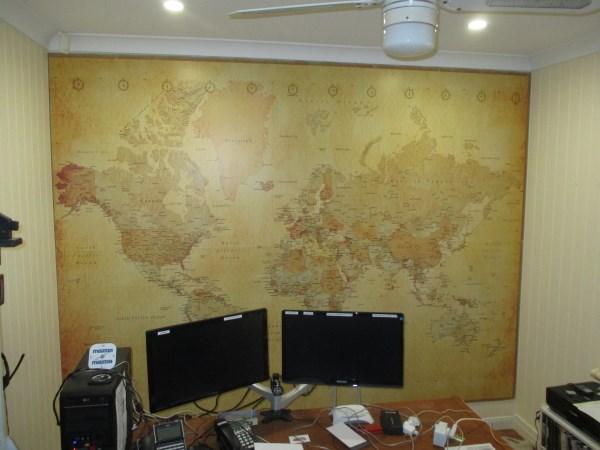 World Map Wall Mural Installation - Norman Park