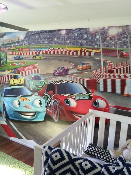 cars mural installation Brisbane