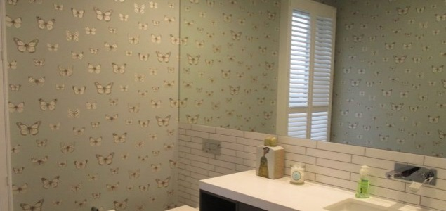 bathroom wallpaper installation Hawthorne Brisbane