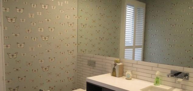 bathroom wallpaper installation Hawthorne Brisbane