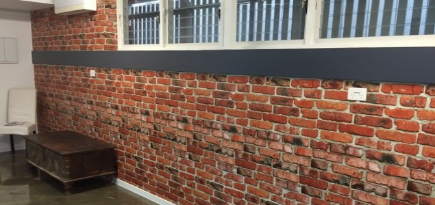 brick wallpaper installation Brisbane