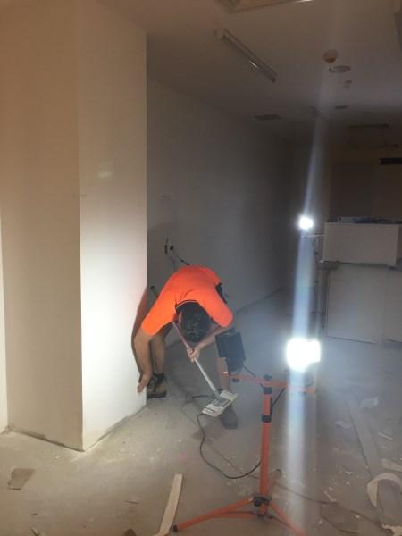 Brisbane commercial wallpapering job