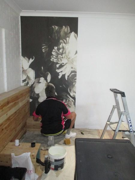 Hair Salon wallpaper installation Gold Coast