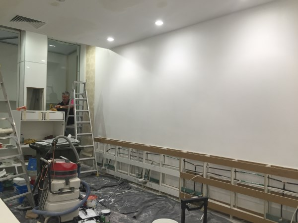 before wallpaper installation - Nail Salon Gold Coast