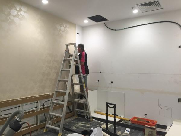 commercial wallpaper installation Gold Coast