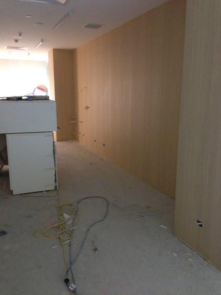 commercial wallpaper installation using timber grain commercial vinyl wallpaper