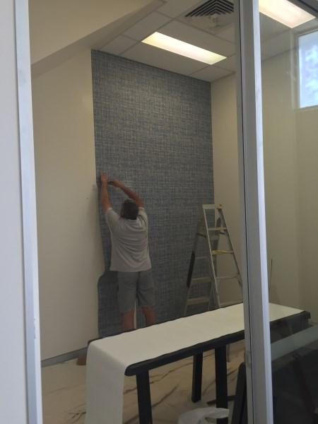 office wallpaper installation Brisbane