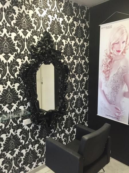wallpaper installation Brisbane hair salon