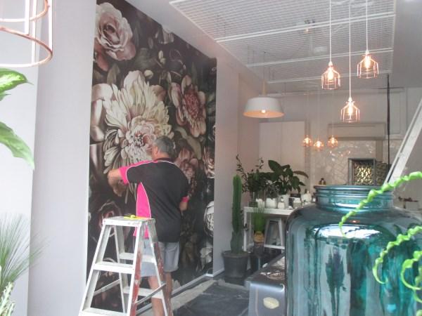 Dark Floral II Black Saturated design - Ellie Cashman wallpaper
