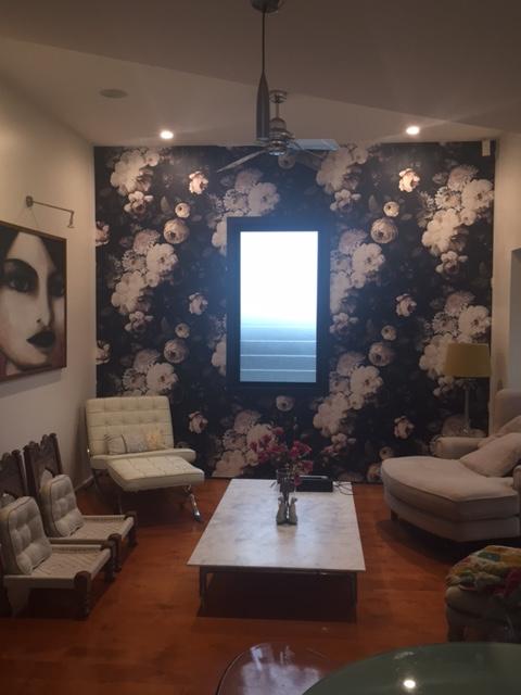 Ellie Cashman wallpaper installation New Farm